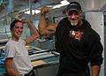 Bill Goldberg visit USS Ronald Reagan.jpg