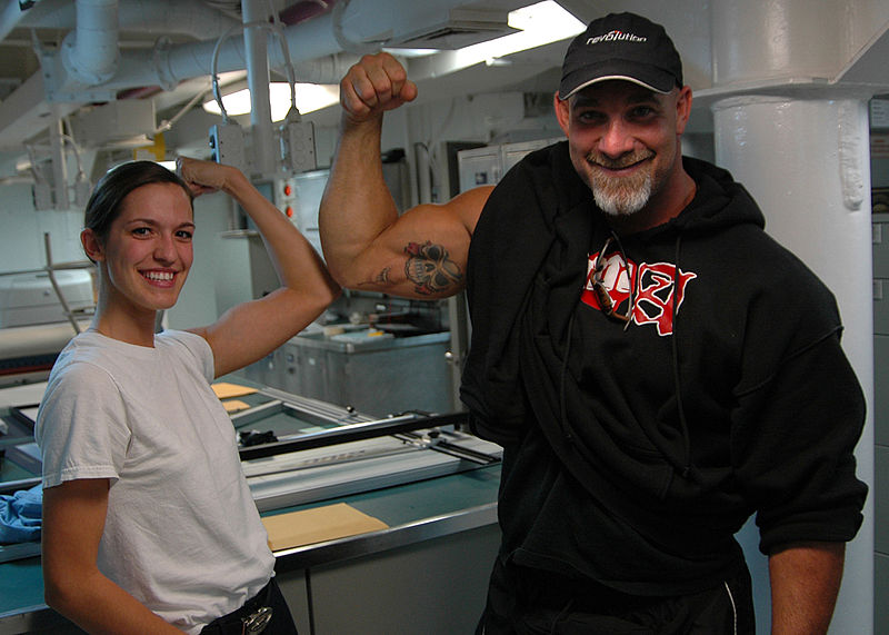 File:Bill Goldberg visit USS Ronald Reagan.jpg