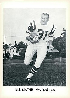 Bill Mathis American football player