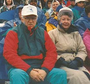 Bill Greiner - Bill and Carol Greiner at UB Homecoming Football Game, Amherst, New York, October 1992