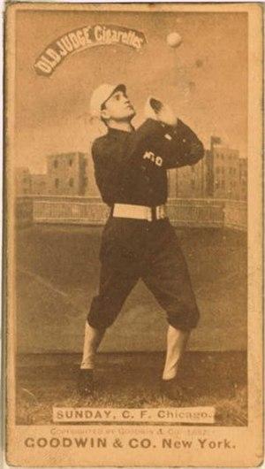 Billy Sunday - Billy Sunday, Center Fielder, Chicago White Stockings, c. 1887