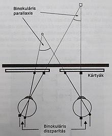 a látás parallaxisa