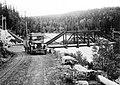 Blåsjöbron. Södra Blåsjöälven. 1930-tal. Linjerna Sollefteå - Strömsund - Jormlien - Ankarede.jpg