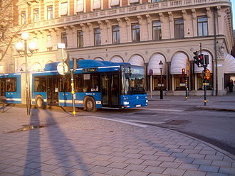 MAN Lion's City - NG 313 CNG (A23) on line 2 in Stockholm.