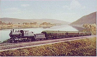 Waverly, Tioga County, New York - The famed Black Diamond Express competed head to head with famous named trains of the Pennsylvania Railroad, New York Central, Delaware and Hudson and Erie Railroad for the Great Lakes and Chicago passenger revenues.