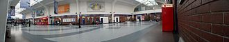 Blackpool North railway station - A panorama of the interior of Blackpool North station
