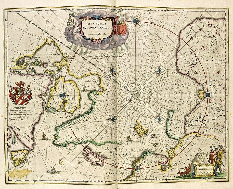 nordområdene kart File:Blaeus kart over Arktis og Nordområdene (12068022554).  nordområdene kart