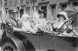 Emma Bugbee - Susan Walker Fitzgerald, Harriot Eaton Stanton Blatch, Maggie Murphy, and Emma Bugbee circa 1910