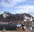 Bled Castle and Pletna boat, Slovenia (3334681049).jpg