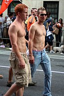 Blu Kennedy attending New York City Gay Pride Parade 2007.jpg