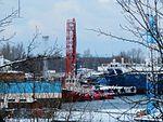 Boa Siw at Quay 40C and Bluefort at Quay 40A-40B in Lahesuu sadam Tallinn 5 February 2017.jpg