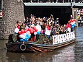 Boat 12 Leger, Marine, Landmacht boot, Canal Parade Amsterdam 2017 foto 6.JPG