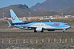 Boeing 737-8K5(w) 'PH-TFB' Arkefly (24955424811).jpg