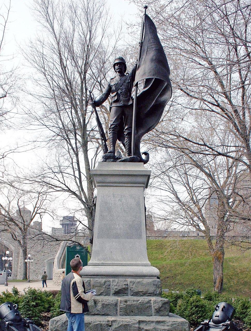 Boer War memorial Quebec City