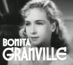 Бонита Гранвил у филму Nancy Drew... Trouble Shooter.