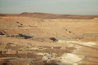 Borax - Rio Tinto borax mine pit, Boron, California