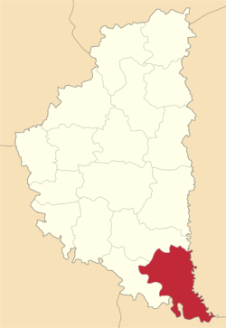 Location of Borščivas rajons