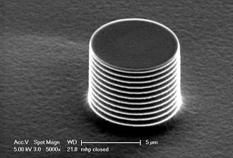 Deep reactive-ion etching - A silicon micro-pillar fabricated using the Bosch process