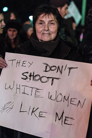 White privilege - Image: Boston Protester White Privilege