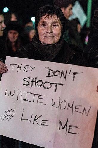 White privilege - Image: Boston Protester White Privilege