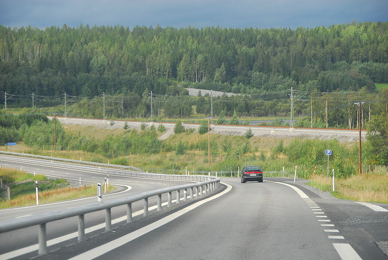 Skeda:Botniabanan and E4 at Ovansjö.jpg
