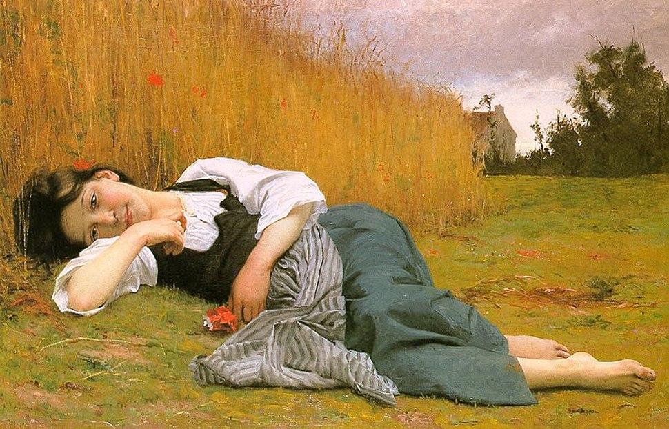 Bouguereau-Rest at harvest(1865)