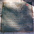 Boundary Stone (District of Columbia) NE 1 plaque 2.jpg