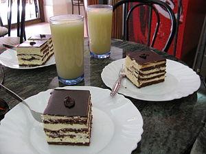 Boza - Boza and Boem šnita desserts in Sarajevo