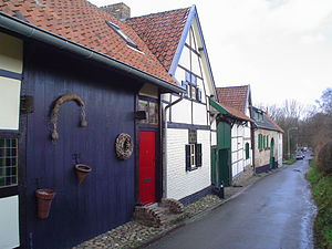 Brand, Nuth - Farmhouses with timber framing at the Branterweg