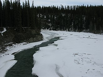 Brazeau River - The Brazeau from Alberta Highway 40