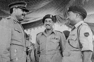 Mohammad Abbas Baig - Brigadier Abbas Baig (middle) with President Ayub Khan (left)