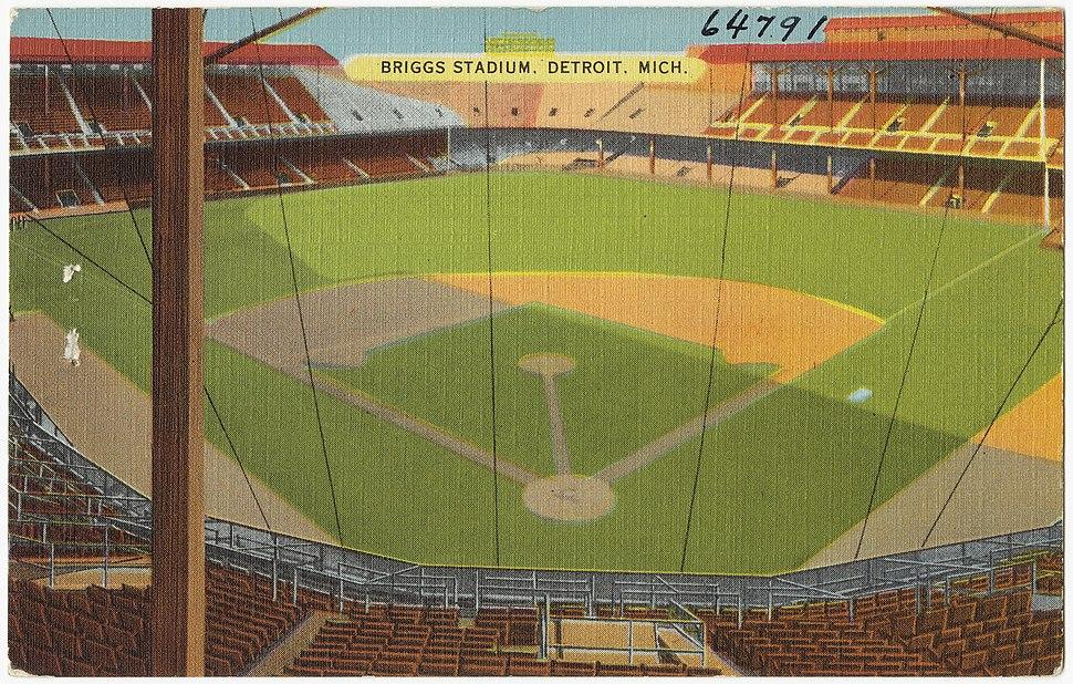 Briggs Stadium, Detroit, Mich postcard