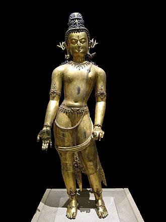 Newar Buddhism - The bodhisattva Avalokiteśvara, 16th century CE.