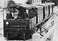 Brno, vozovna Pisárky, parní tramvaj s lokomotivou č. 7 (mezi 1885 a 1899).jpg