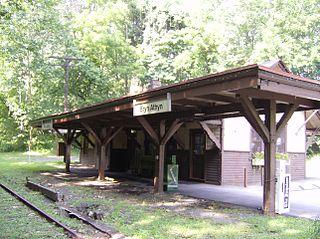 Bryn Athyn station train station in Bryn Athyn, Pennsylvania