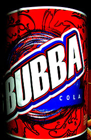Bubba Cola's new label as of late 2005 and early 2006
