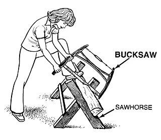 Bucksaw Hand-powered frame saw