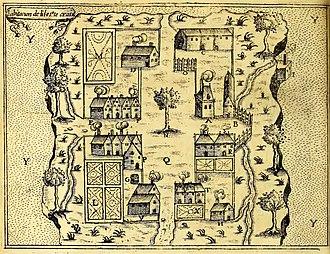 Saint Croix Island, Maine - Buildings on Saint Croix Island, 1613