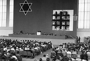 """Ev. Kirchentag, Arbeitsgruppe """"Juden und Christen"""", Berlin 1961"""