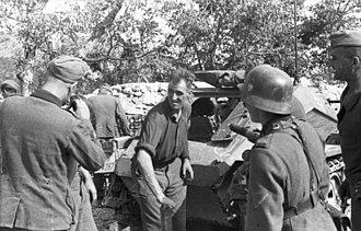 Sd.Kfz. 252 - Image: Bundesarchiv Bild 101I 230 0688 03A, Krim, Beladen eines Munitionstransporter s