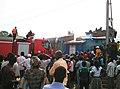 Bunia, Province de l'Ituri, RD Congo - Deux camions anti-incendie de la MONUSCO sont intervenus le 25 février 2016 pour maitriser un incendie qui s'est déclaré jeudi dans l'après-midi au centre-ville de Bunia. (24746096143).jpg