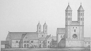 Dankwarderode Castle - Image: Burg Dankwarderode (Ludwig Winter)