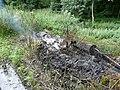 Burning household refuse near Blacker Dam - geograph.org.uk - 938934.jpg