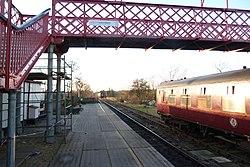 Butterley railway station, Derbyshire, England -bridge-19Jan2014 (2).jpg