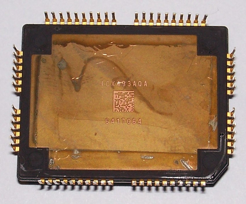 CCD SONY ICX493AQA pins side