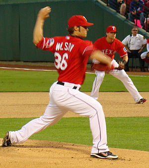 C. J. Wilson - Starting in the majors for the first time since his rookie year, Wilson started the second post-season game for the Rangers