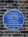 COLEN CAMPBELL 1676-1729 Architect and Author of Vitruvius Britannicus lived and died here.jpg