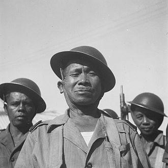 Minahasan people - Minahasa reserve troops, Tondano Landstorm, 1948.