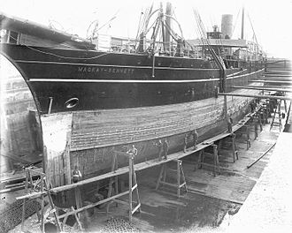 CS Mackay-Bennett - CS Mackay-Bennett in Dry Dock at Halifax, Nova Scotia