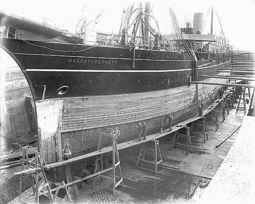 CS MacKay-Bennett in Dry Dock, Halifax, Nova Scotia, Canada, between 1885 and 1922